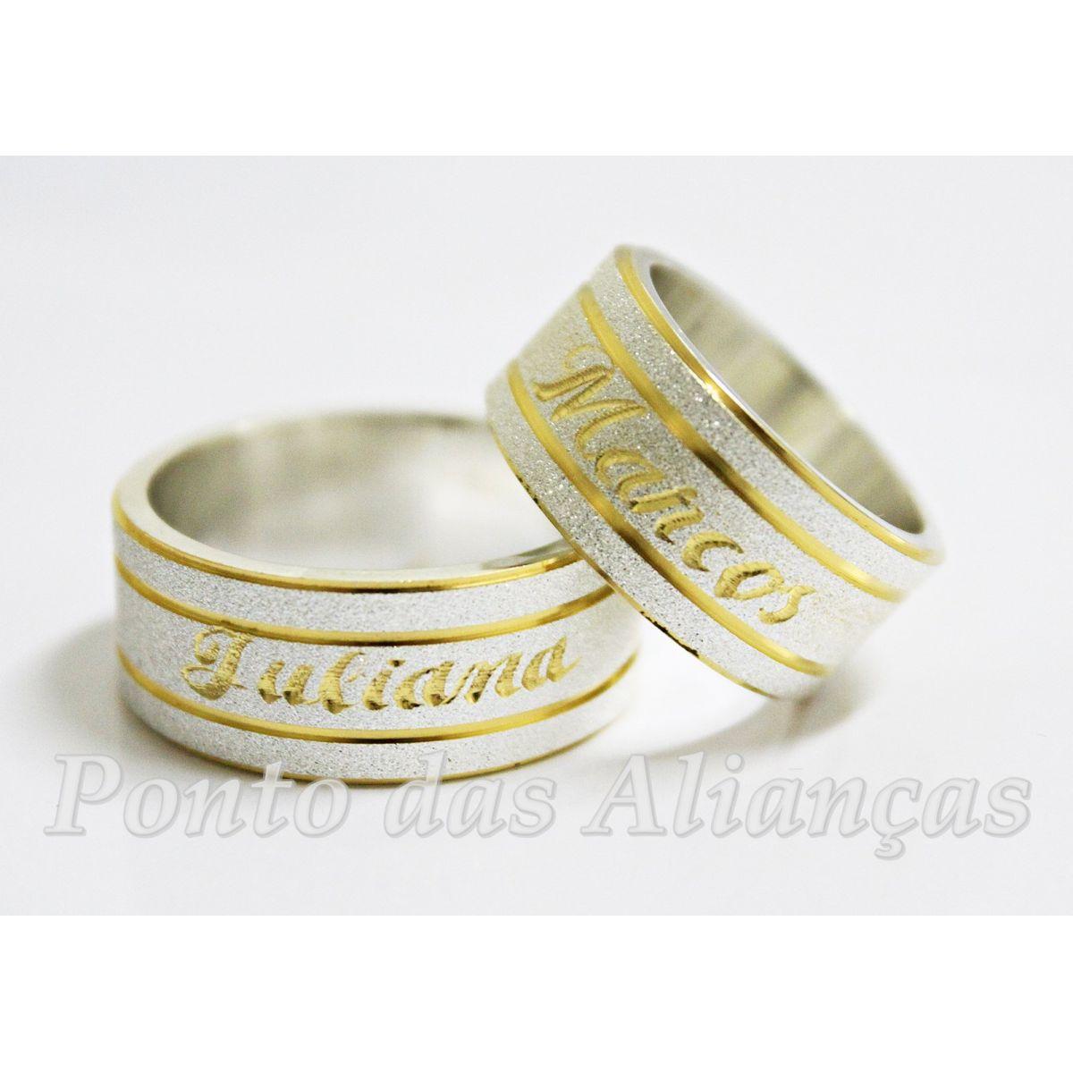 Alianças de Prata Compromisso -  Noivado 3023
