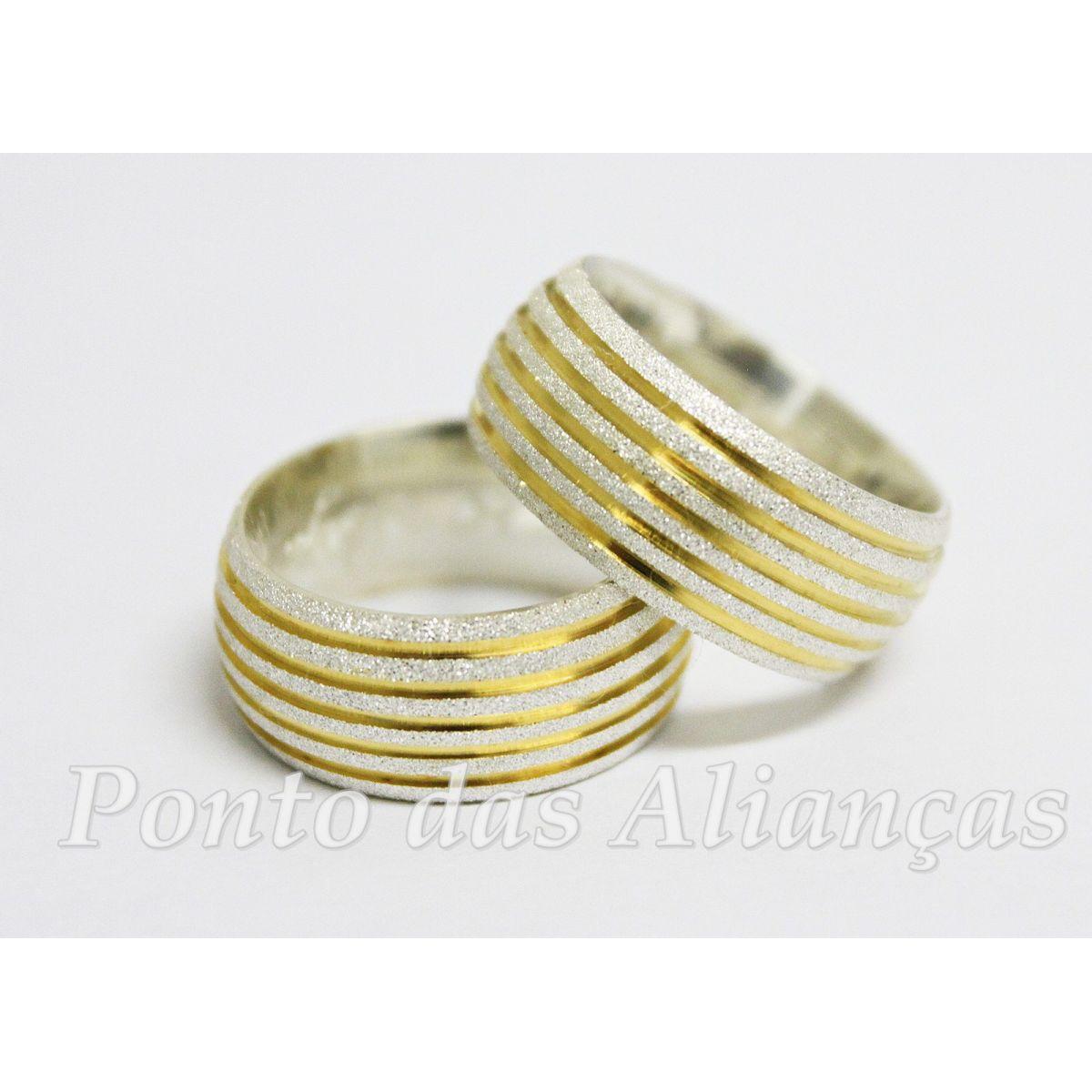 Alianças de Prata Compromisso - Noivado  -3034