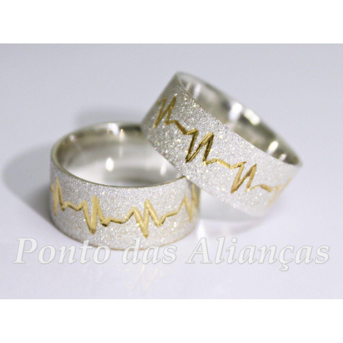 Alianças de Prata Compromisso - Noivado  - 3037