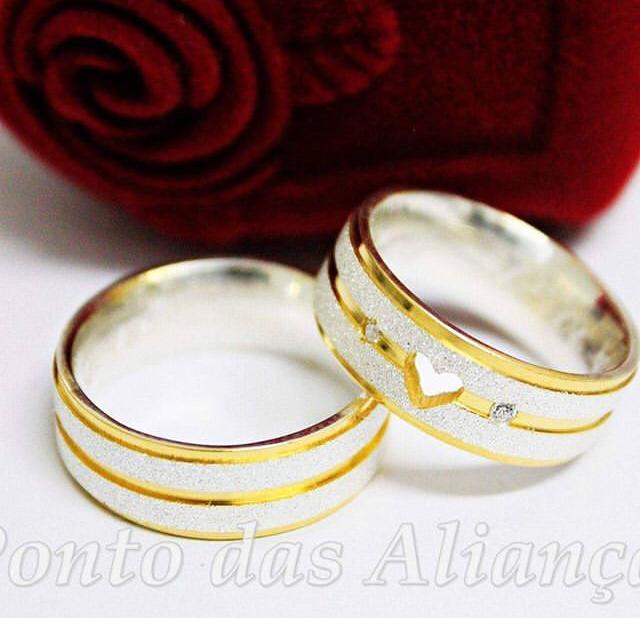 Alianças de Prata Compromisso - Noivado -  3038