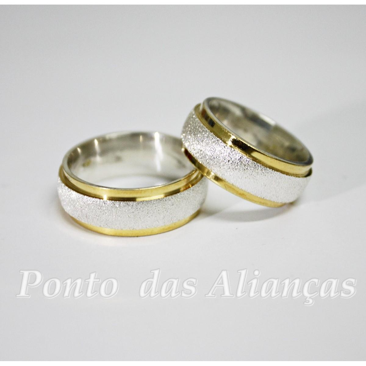 Alianças de Prata Compromisso - Noivado - 3083