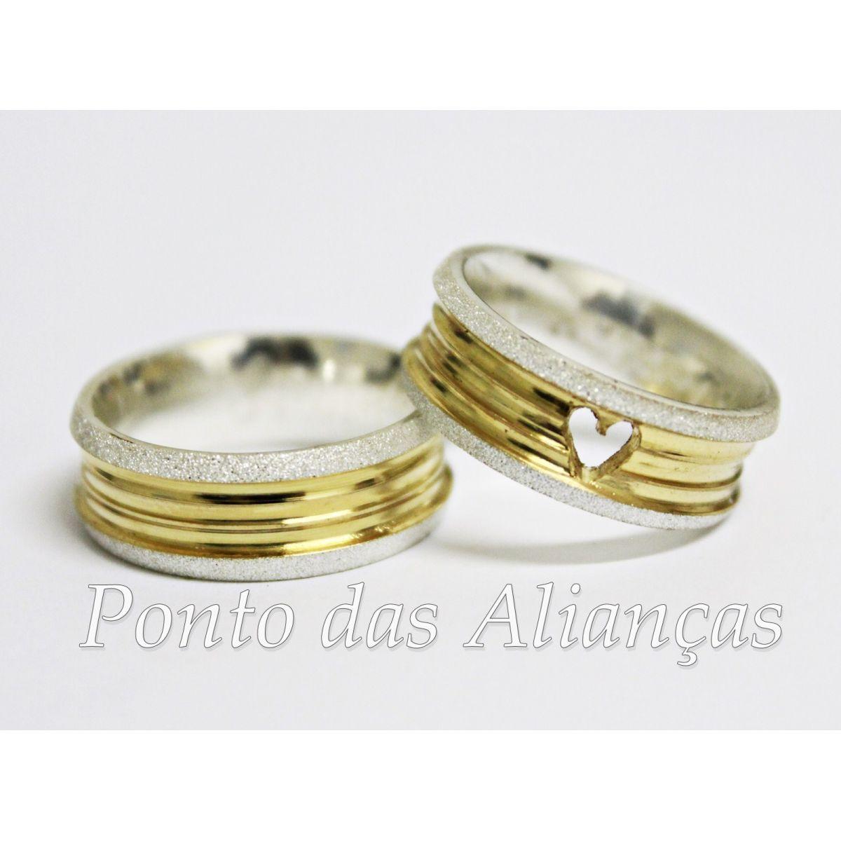 Alianças de Prata Compromisso - Noivado 548