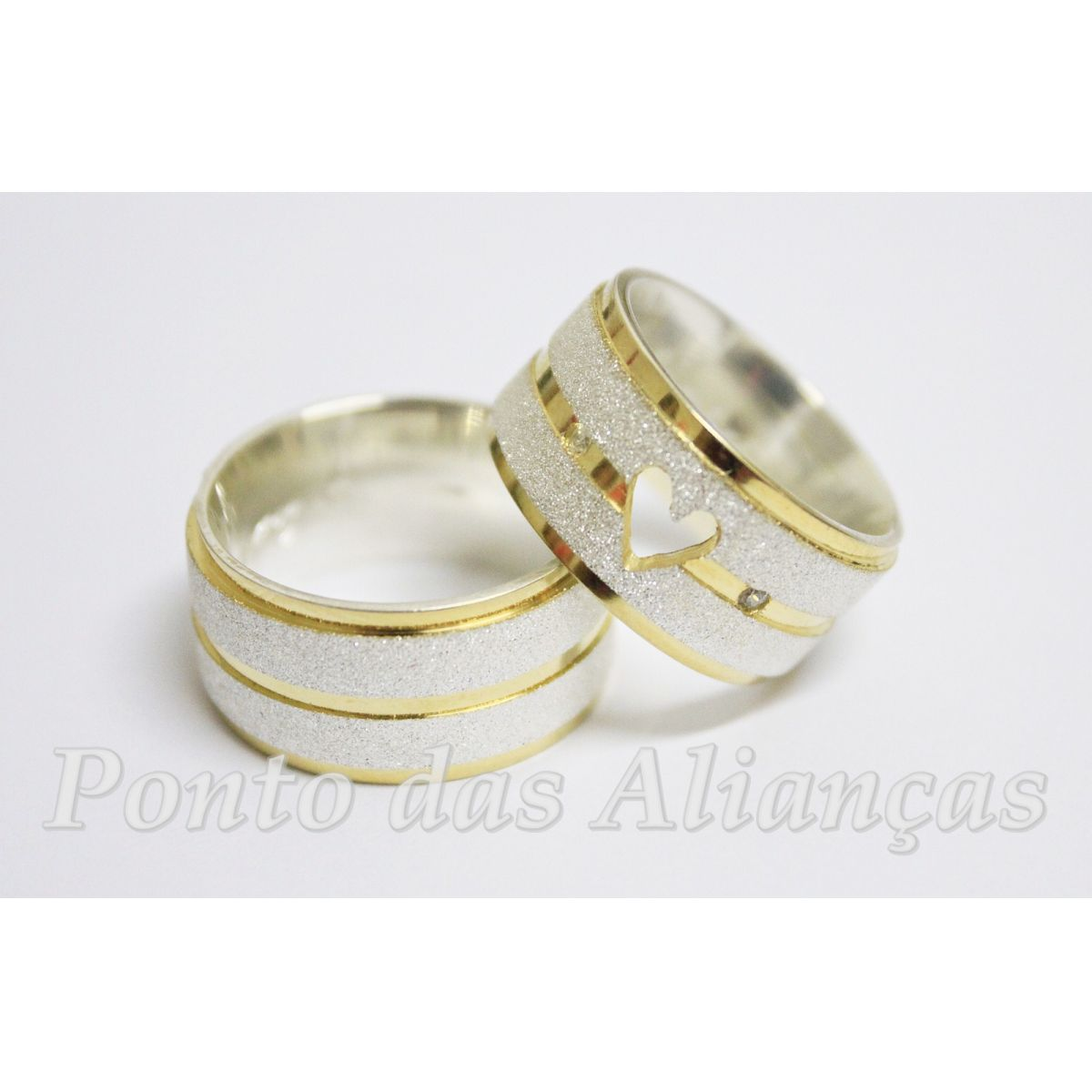 Alianças de Prata Compromisso ou Noivado - 3021
