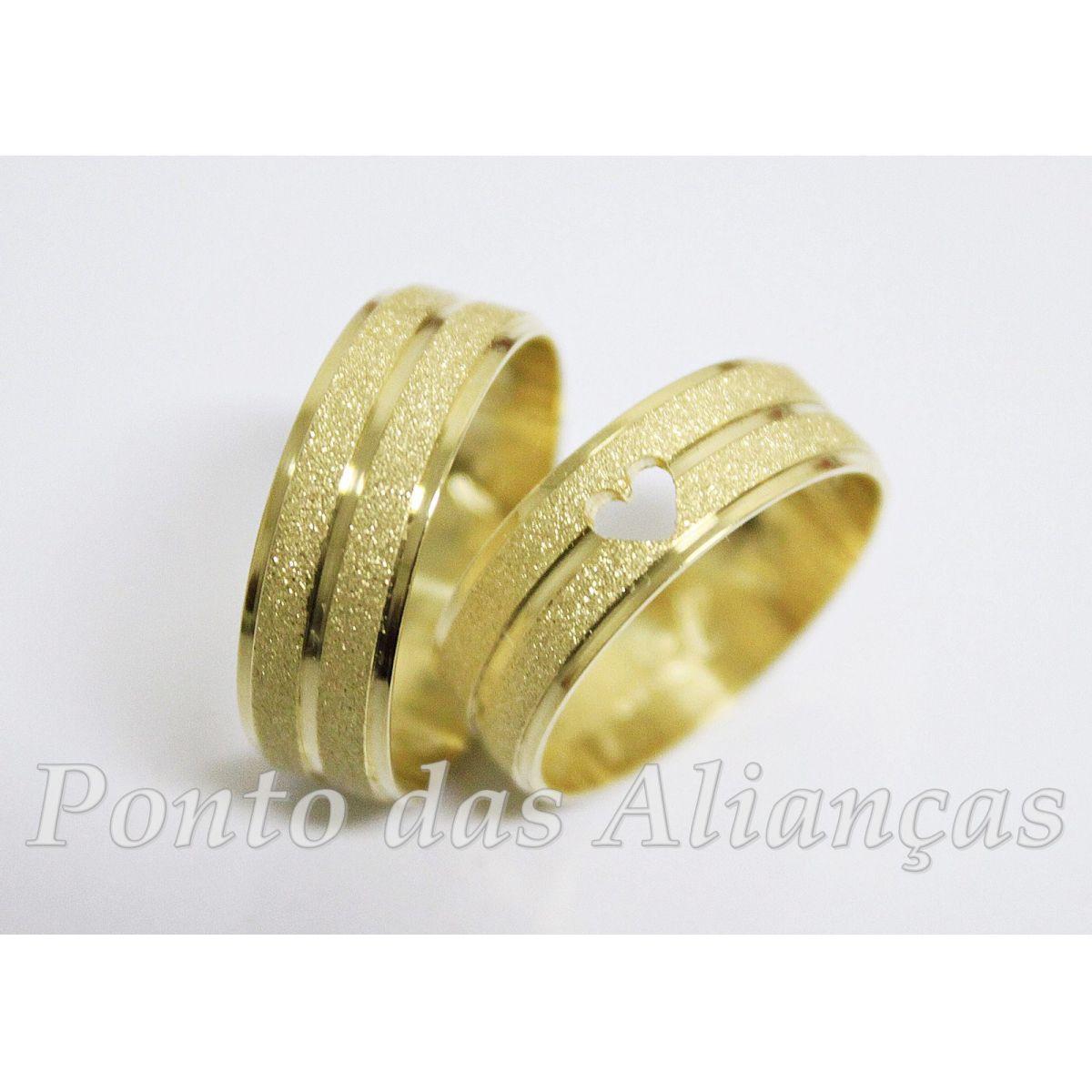 Alianças em Ouro Casamento - Noivado -  571