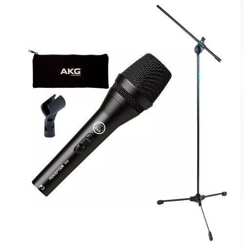 Microfone Akg P3s Perception Dinâmico + Pedestal Ask Tpl