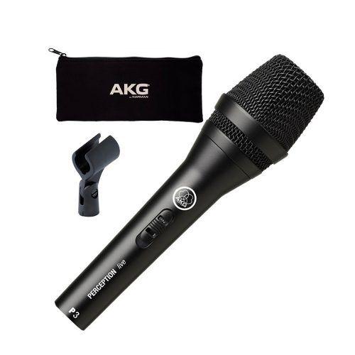 Microfone Akg P3s Perception Dinâmico P3 S + Brinde
