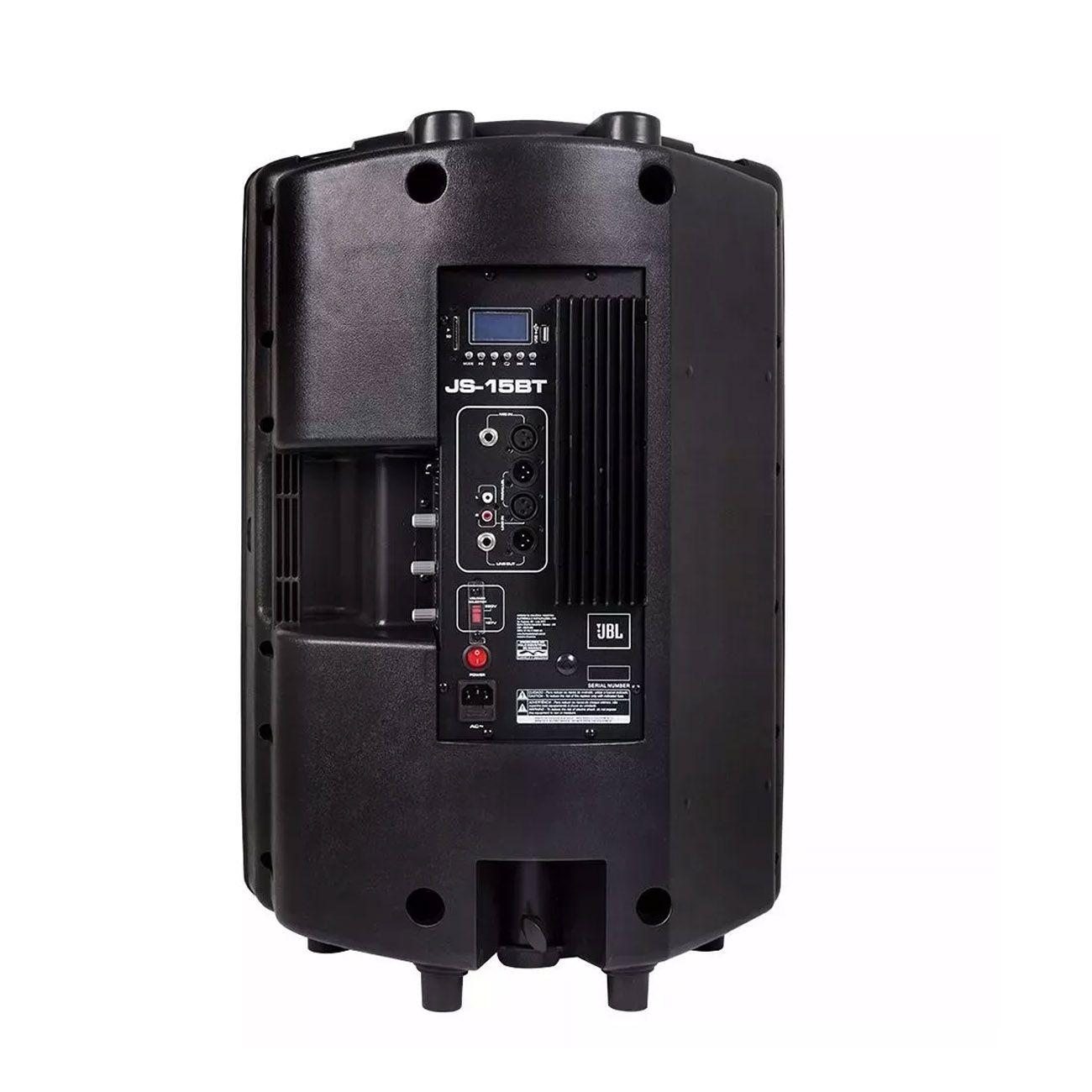 Caixa Acustica Ativa Jbl Js-15 Bt 15 Polegadas 200w Rms Usb / Sd/ Bluetooth / Folder