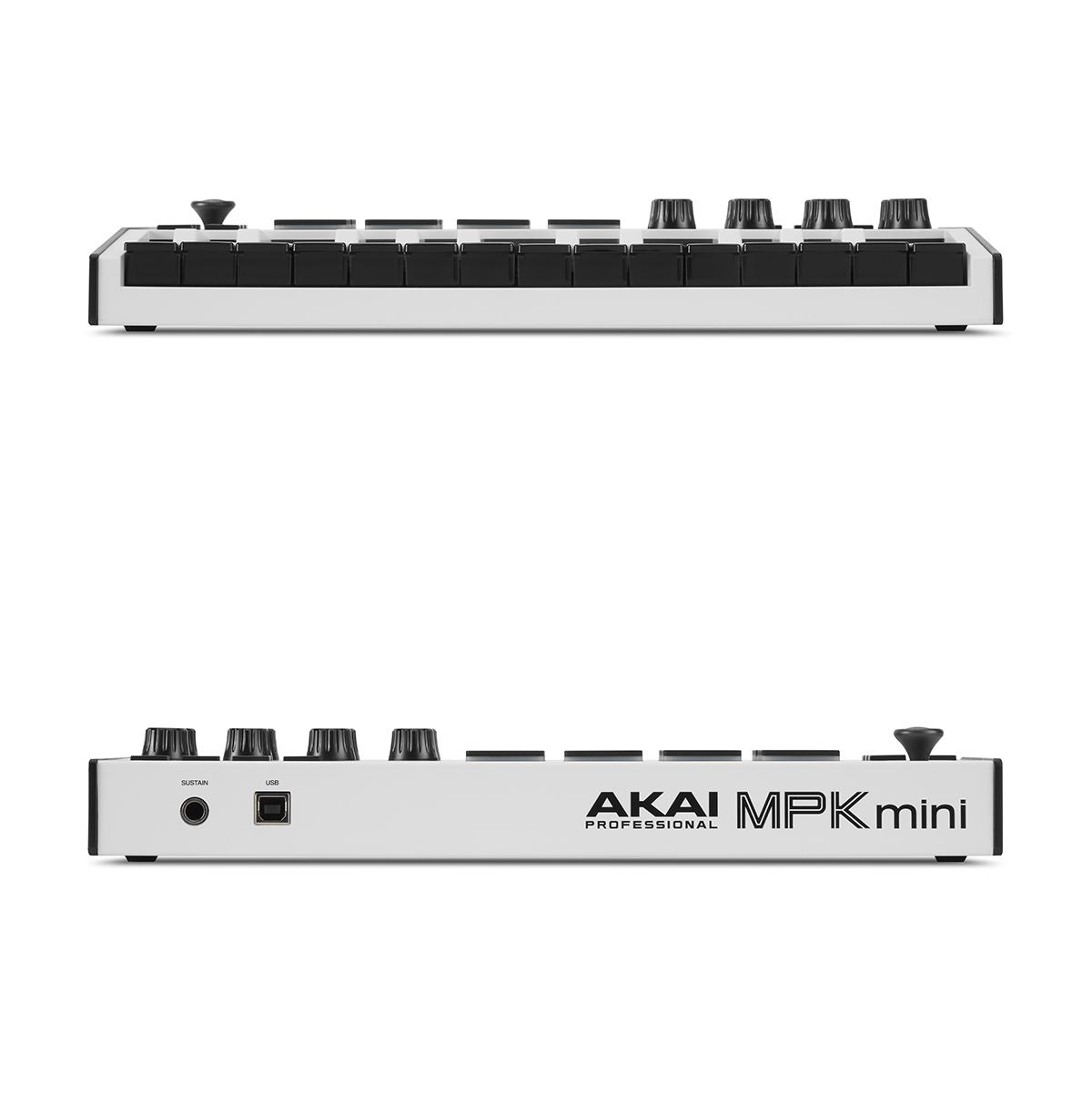 Controladora Akai Mpk Mini MK3 WHITE 25 Teclas