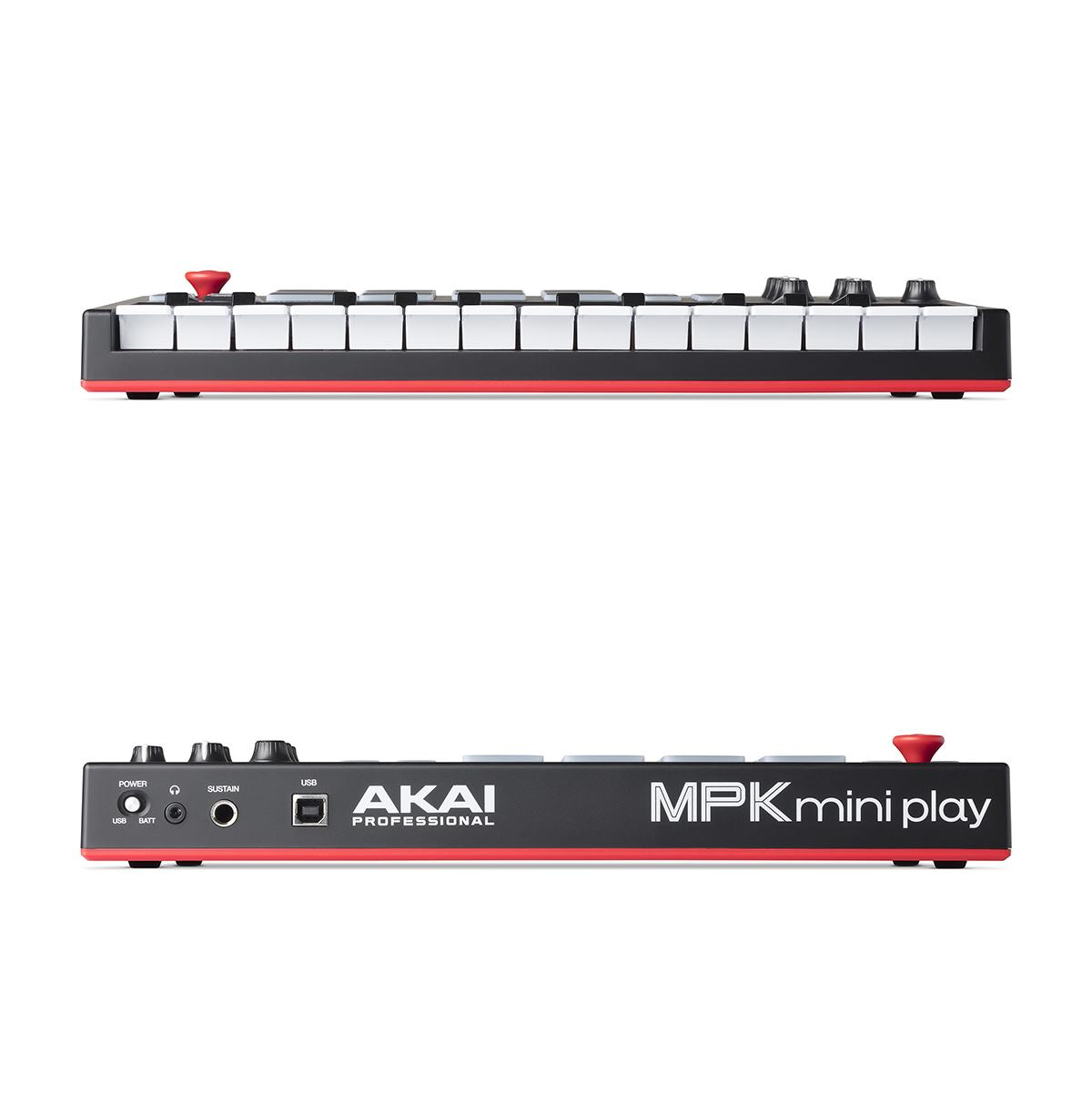 Controladora Akai Mpk Mini Play 25 Teclas