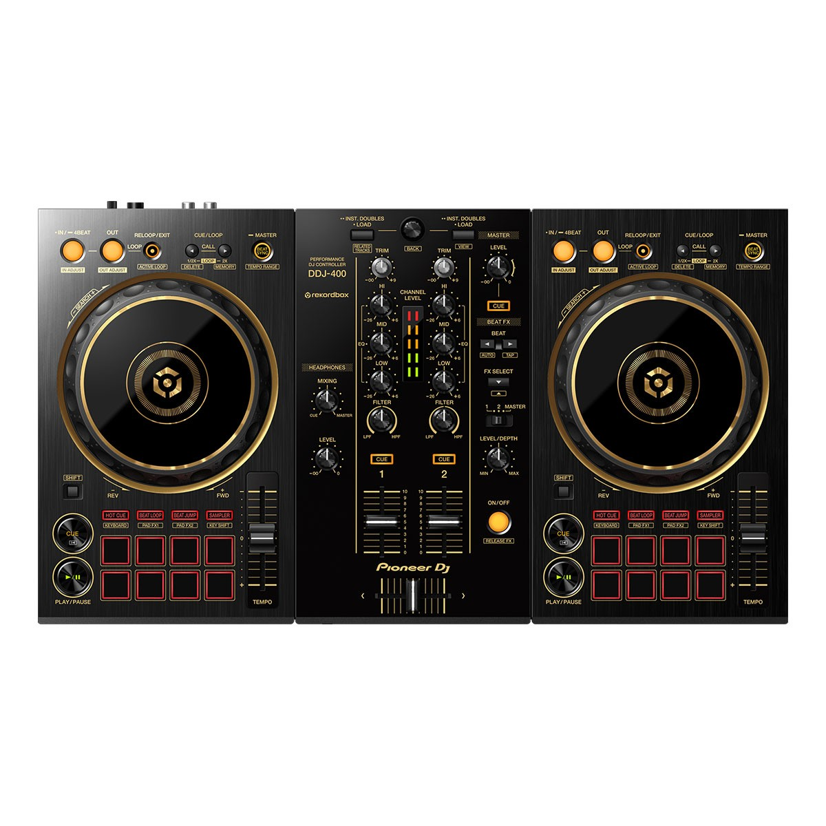 Controladora Pioneer DJ DDJ 400 N Gold