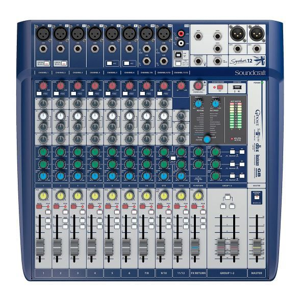Mesa De Som Soundcraft Signature 12 USB 12 Canais