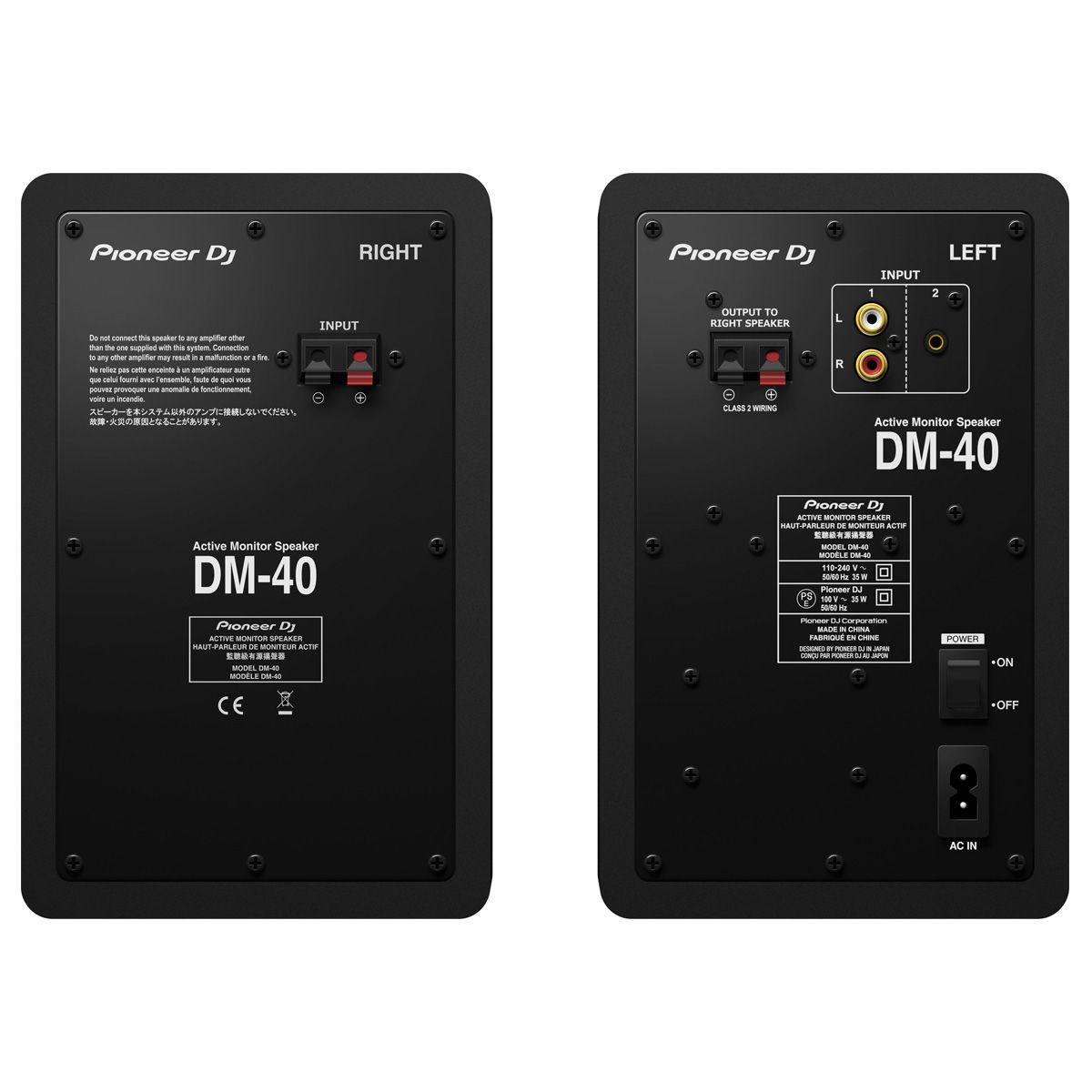 Monitor De Referência Pioneer DJ DM-40 Preto