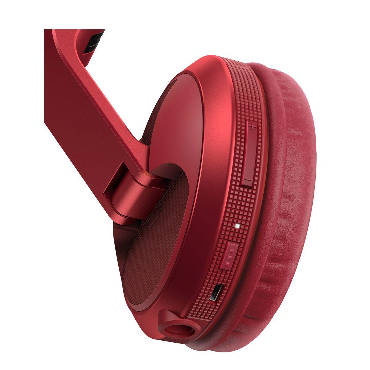 Fone De Ouvido Pioneer DJ HDJ-X5BT Vermelho