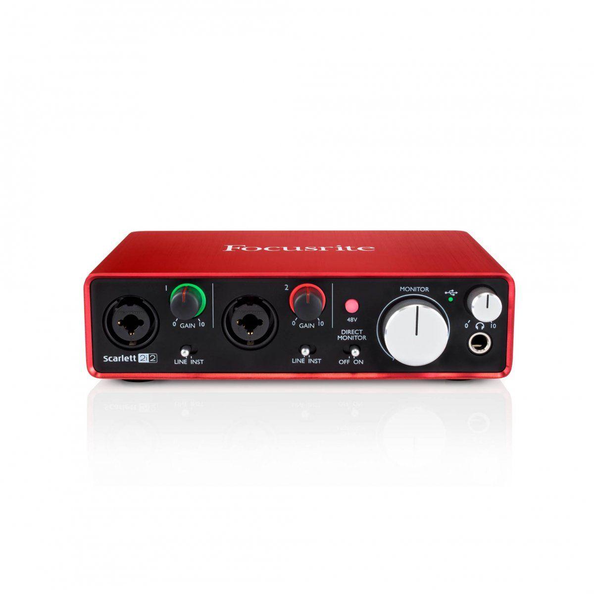 Interface De Áudio Focusrite Usb Scarlett 2i2 2a Geração