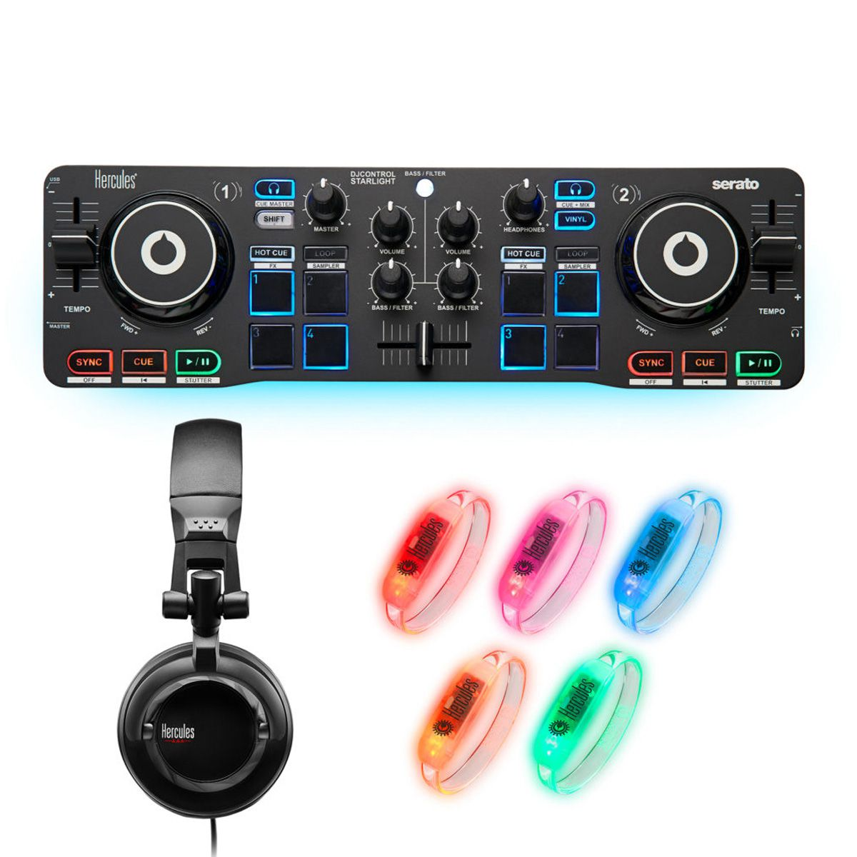 Kit Controlador Hercules DJ Party