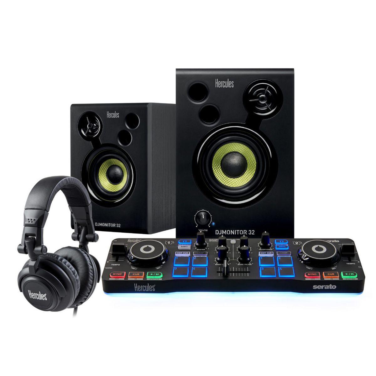 Kit Controlador Hercules DJ Starter
