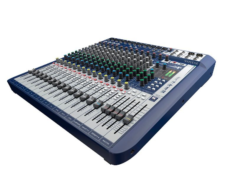 Mesa De Som Soundcraft Signature 16 USB 16 Canais