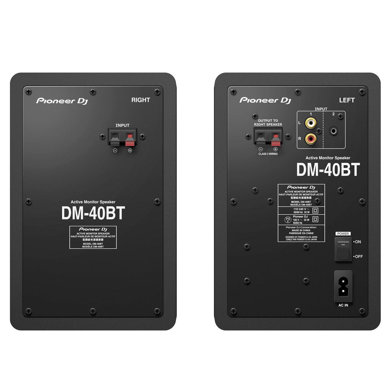 Monitor de Referência Pioneer DJ DM40BT  Par Preto