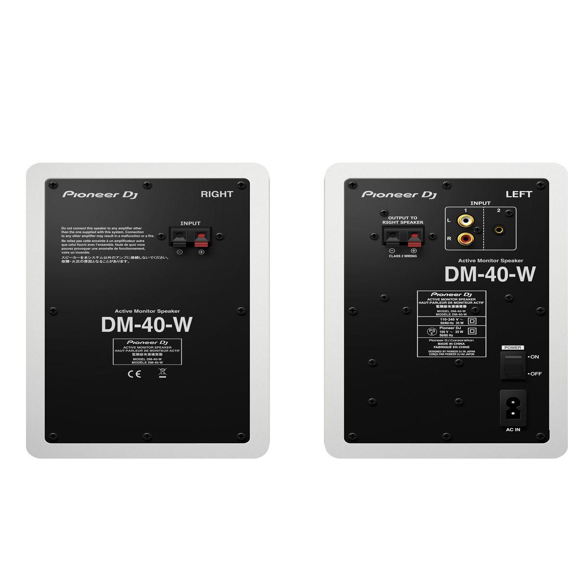 Monitor De Referência Pioneer Dj Dm-40 Branco