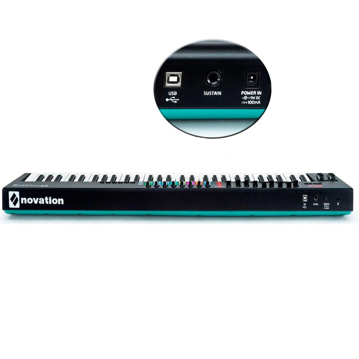 Teclado Controlador Midi Novation Launchkey 61 Mk2