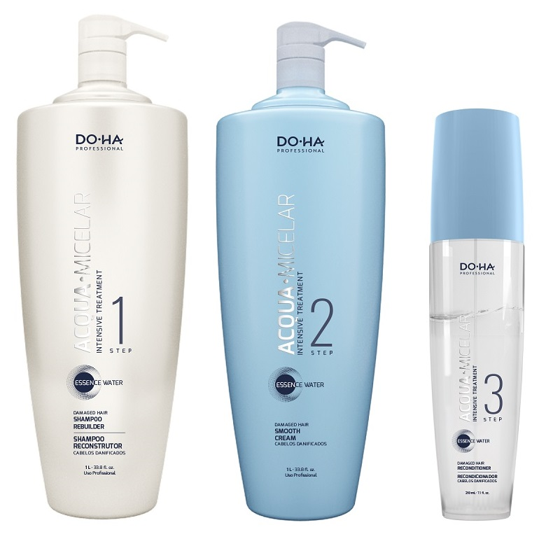 Doctor Hair Acqua Micelar Kit Reconstrutor dos Fios 2200ml - DO.HA