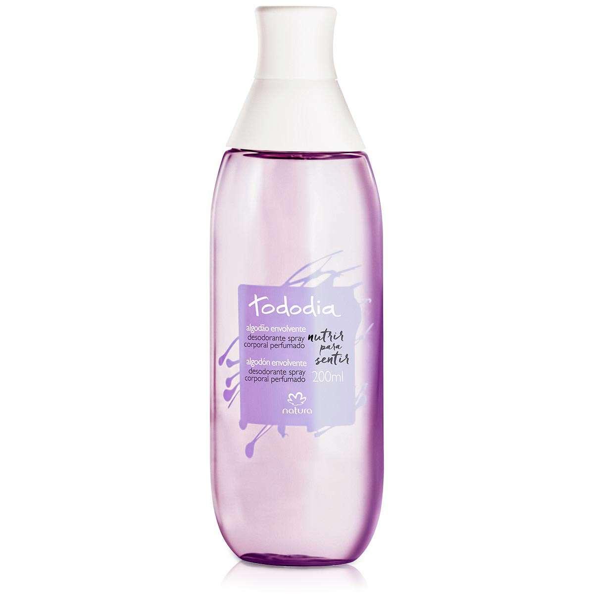 Natura Tododia Algodão Desodorante Spray Corporal Perfumado 200ml