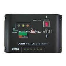 Controlador de carga solar 10A (12V/24V) com timer programável