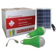 Maple Gerador Solar Portatil Csfd-5-S Modulo 5W E Duas Lampadas Com Regulagem