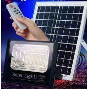 Refletor Led 100w Solar c/bateria e painel solar