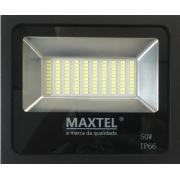 Refletor LED 50w branco frio 6500k - MAXTEL