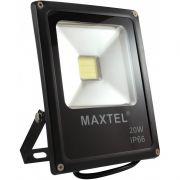 Refletor LED 20w branco frio 6500k BIVOLT IP66