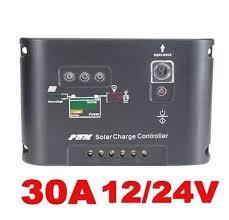 Controlador de carga solar 30A (12V/24V) com timer programável