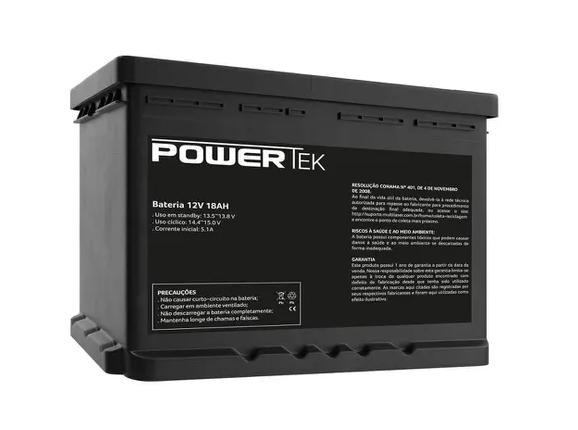 Bateria PowerTek 12v 18a/h