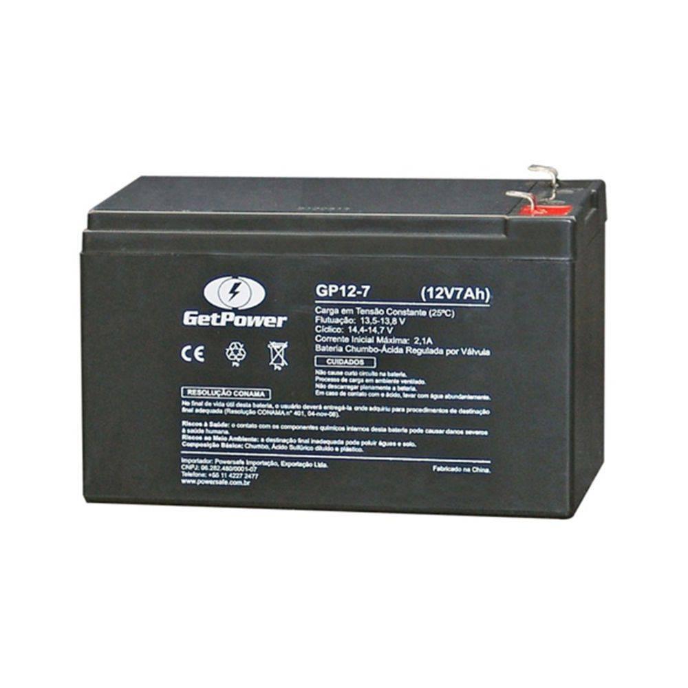 Bateria Selada Vrla (Agm) GetPower 12v 7ah
