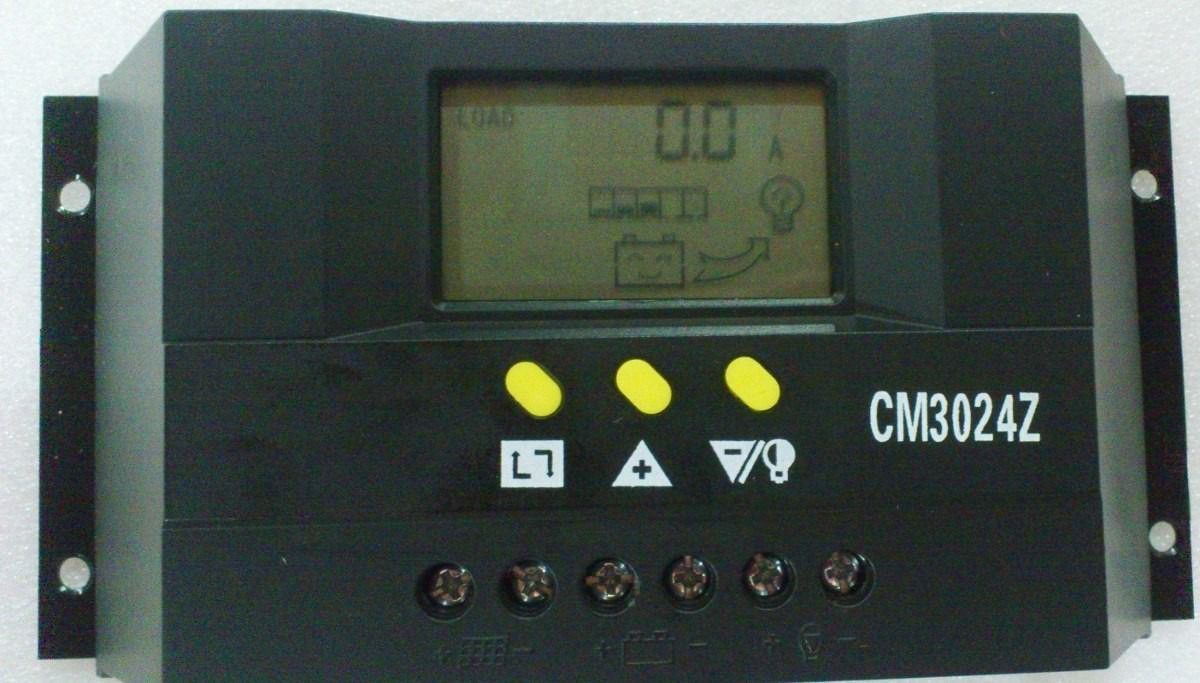 Controlador de carga solar 30A (12V/24V)