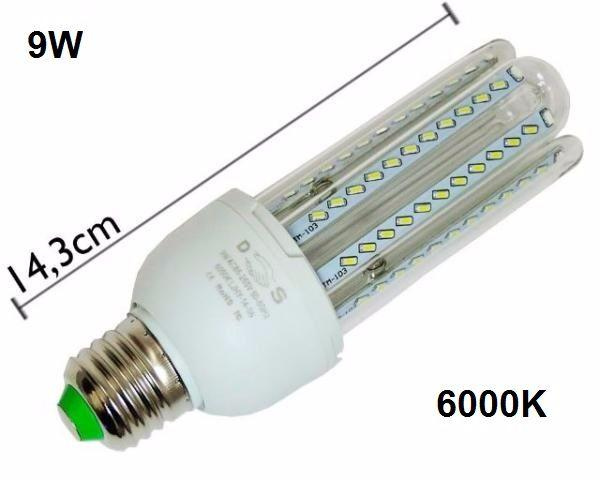 Lampada LEd compacta 9w bivolt - 3 U