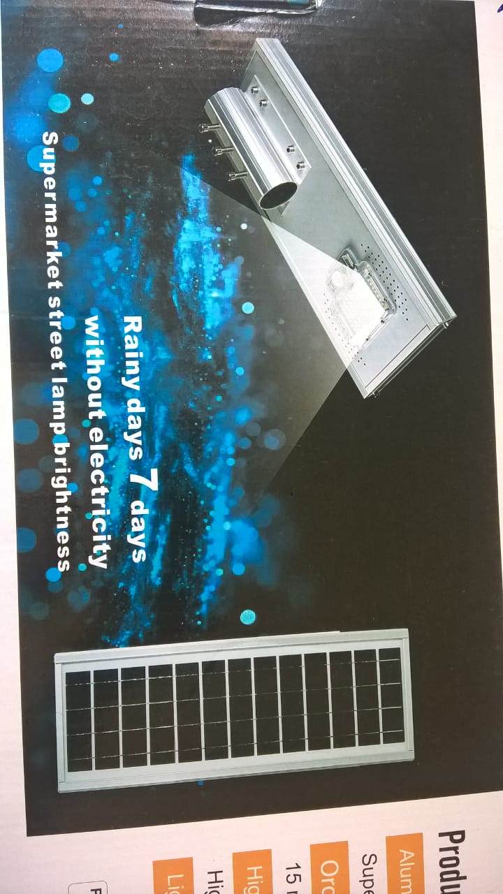 Luminaria publica led Solar 50w para Poste