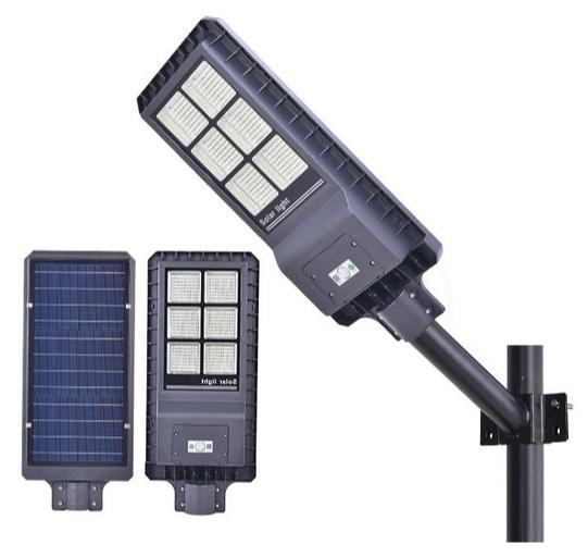 Luminaria Publica Solar 120w Integrada com bateria e painel solar