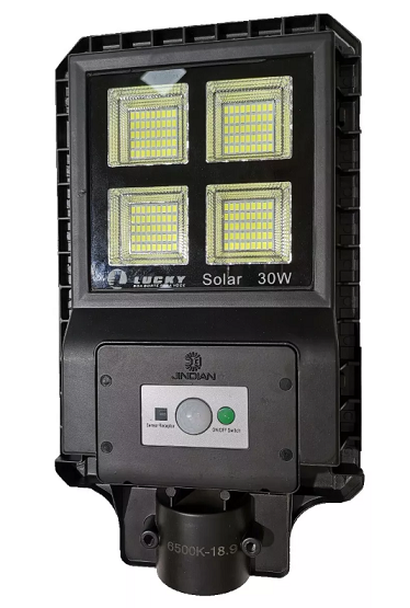 Luminaria Publica Solar 90w Integrada combateria e painel solar