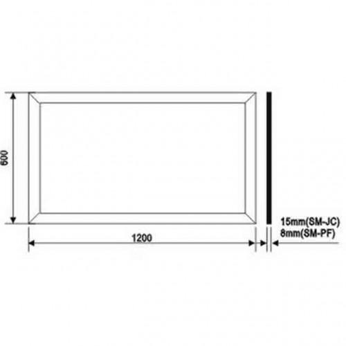 Plafon Led Quadrado Embutir 18w - Bivolt -