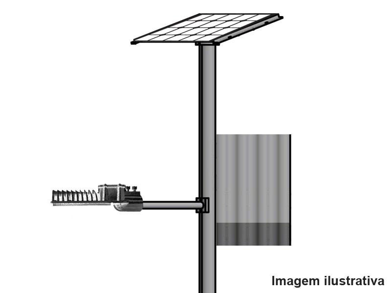 Poste Solar Autonomo   LED 45W  c/ Base
