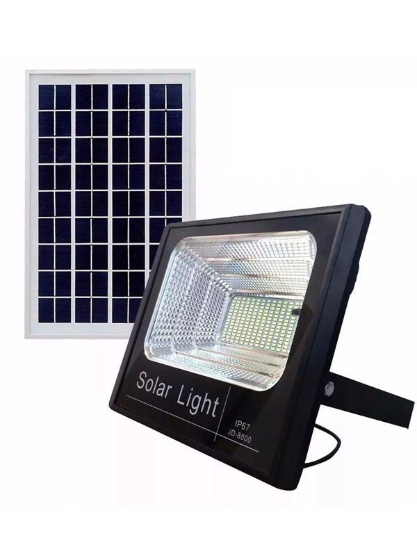 Refletor Led Solar 300w com  bateria e painel solar