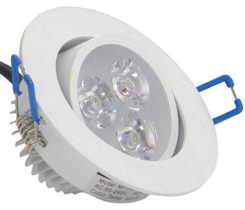 Spot  LED 3W Spot Redondo de Embutir Branca  bivolt