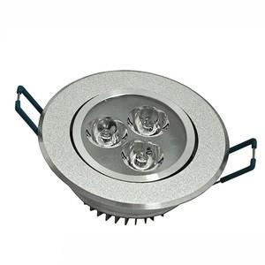 Lâmpada spot led 3W Redondo Embutir  Aluminio