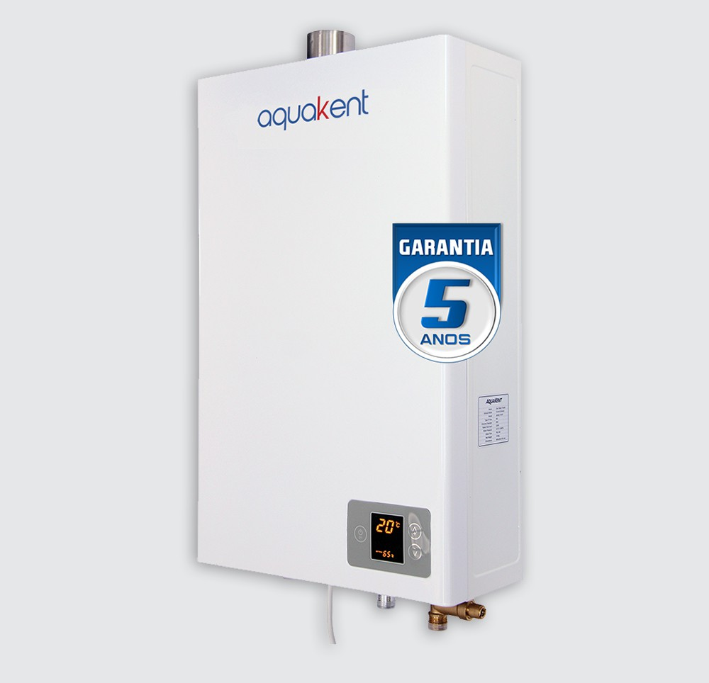Aquecedor de Água Aquakent AKG14 Digital - Vazão 14 Litros - Branco - Gás Natural (GN)