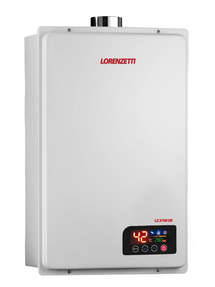 Aquecedor de Água Lorenzetti LZ 3700DE Vazão 37 Litros Digital - Gás GN