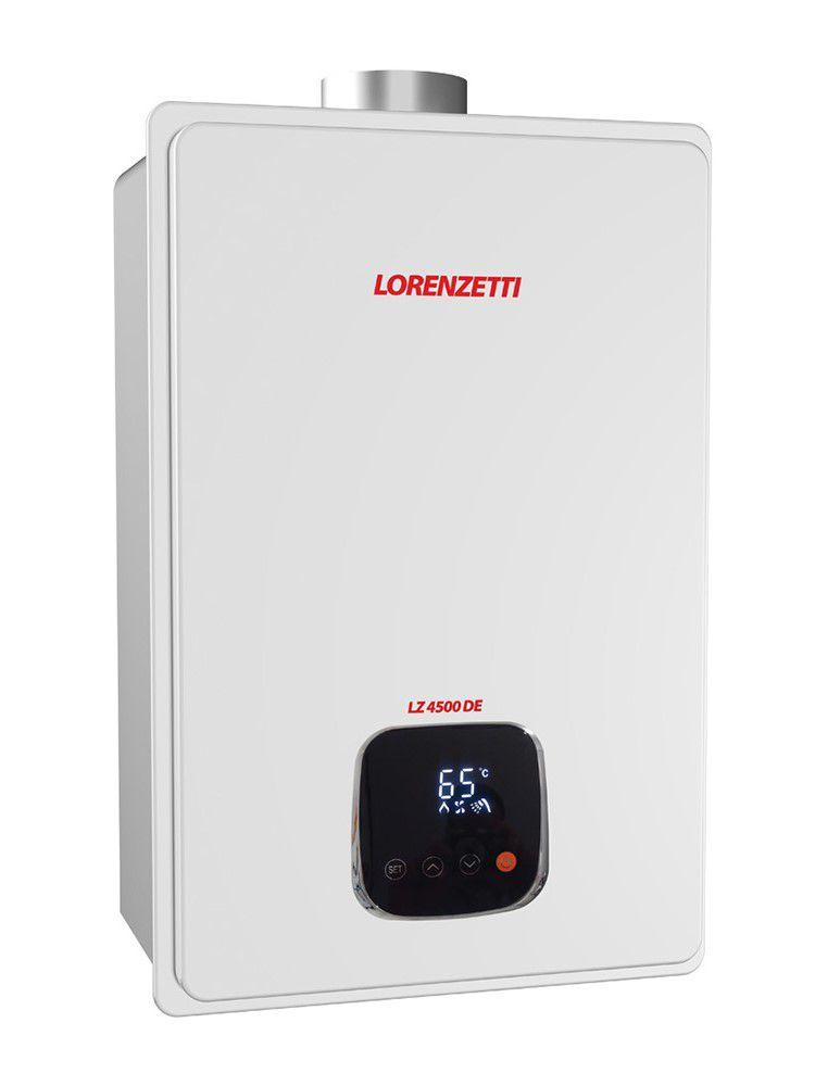 Aquecedor de Água Lorenzetti LZ 4500DE Vazão 45 Litros Digital - Gás GN