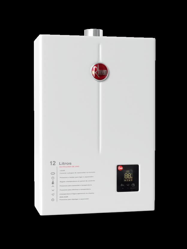 Aquecedor de Água Rheem 12 Litros Digital - Gás GN