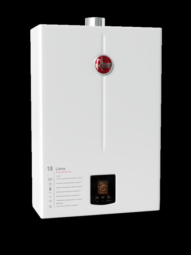 Aquecedor de Água Rheem 18 Litros Digital - Gás GN