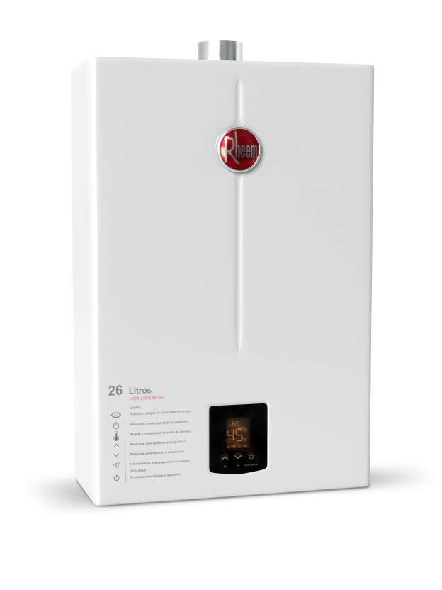 Aquecedor de Água Rheem 26 Litros Digital - Gás GN